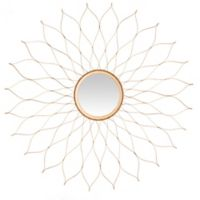 Safavieh Flower Wall Mirror in Gold