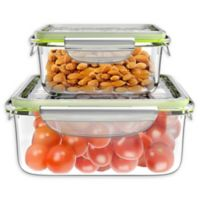 Classic Cuisine 4-Piece Clear Glass Food Storage Container Set