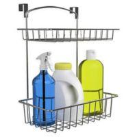 Classic Cuisine 2-Tier Over The Cabinet Kitchen Storage Organizer Basket in Chrome