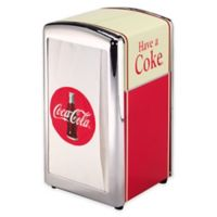 """Have a Coke®"" Full-Size Napkin Dispenser in Red/Brown"