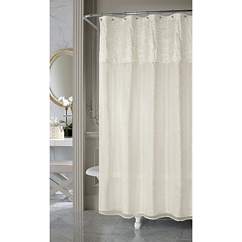 Great Nicole Miller Sparkle Fabric Shower Curtain