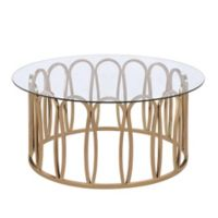 Scott Living Hemet Modern Coffee Table in Chocolate Chrome