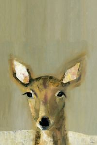 Marmont Hill Bonjour Cerf 12-Inch x 8-Inch Canvas Wall Art