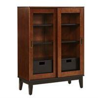 Holly & Martin® Zhang Double-Door Display Cabinet in Brown/Black