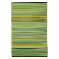 Fab Habitat Cancun Lemon & Apple Green 4-Foot 11-Inch x 7-Foot 10-Inch Indoor/Outdoor Rug