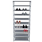 Home Basics® 24-Inch 10-Tier Coated Shoe Rack in Grey