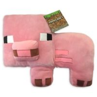 Mojang Minecraft Pig Pillow Buddy in Pink
