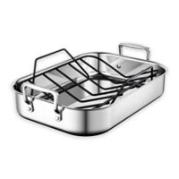 Le Creuset® 14-Inch x 10-Inch Stainless Steel Roasting Pan with Nonstick Rack