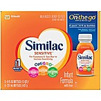 Similac Sensitive® 8 oz. On-The-Go Infant Formula (Pack of 6)
