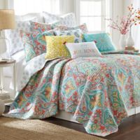 Levtex Home Linda Reversible Full/Queen Quilt Set in Teal/Red