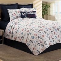 Anchors Away Reversible Twin Quilt Set in Blue