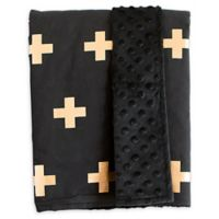 Bambella Designs Crosses Stroller Blanket in Gold