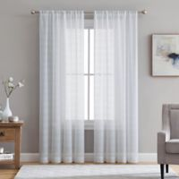 Veratex Berksheer 84-Inch Rod Pocket Window Curtain Panel in White