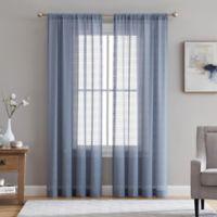 Veratex Berksheer 108-Inch Rod Pocket Window Curtain Panel in Denim