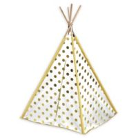 American Kids Teepee Tent in Gold/White