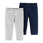 carter's® Newborn 2-Pack Organic Cotton Sweatpants in Navy/Grey