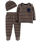 Little Planet™ Organic by carter's® Newborn 3-Piece Shirt and Pants Set in Navy