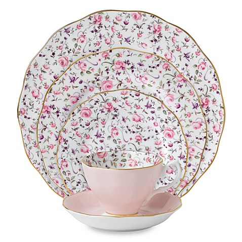 Royal Albert Rose Confetti Formal Vintage Dinnerware  sc 1 st  Bed Bath \u0026 Beyond & Royal Albert Rose Confetti Formal Vintage Dinnerware - Bed Bath \u0026 Beyond