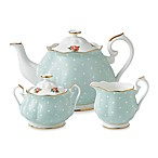 Royal Albert Polka Rose 3-Piece Tea Set