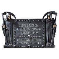 "Design Toscano ""Life After Death: No Trespassing"" Wall Sculpture"