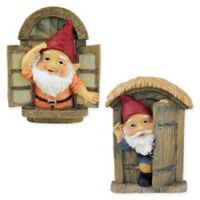Design TOSCANO® Knothole Gnomes Welcome Tree Sculptures (Set of 2)