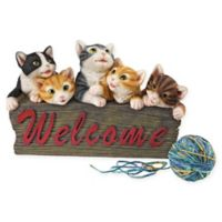 Design Toscano Kitten Kaboodle Cat Welcome Sign
