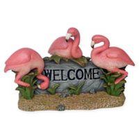 Design Toscano Pink Flamingo Welcome Statue