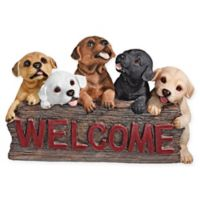 Design TOSCANO® The Puppy Parade Welcome Sign