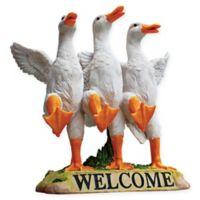 """Delightful Dancing Ducks """"Welcome"""" Sign"""