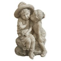 Design Toscano Kissing Kids Garden Statue