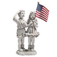 Design TOSCANO® Patriotic Flag Children Statue