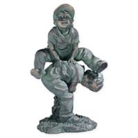 Leap Frogging Playing Boys Statue