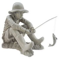 "Design Toscano ""Gone Fishing"" Garden Statue"