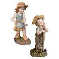 Design Toscano Fanny and Frank 2-Piece Garden Statue Set