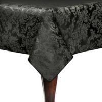 Miranda 52-Inch x 70-Inch Oval Tablecloth in Black