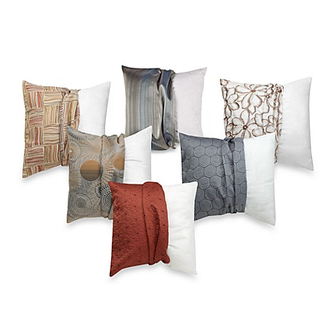 make-your-own-pillow square throw pillow insert and cover - bed bath Make Your Own Throw Pillows