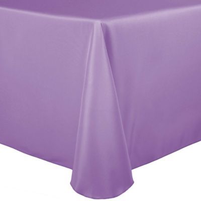 Stain Resistant Solid 70 Inch X 104 Inch Oval Tablecloth In Lilac