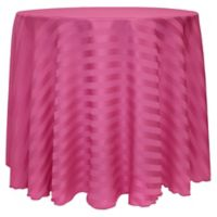72-Inch Round Poly-Stripe Tablecloth in Raspberry