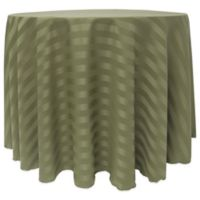 72-Inch Round Poly-Stripe Tablecloth in Army Green