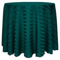 72-Inch Round Poly-Stripe Tablecloth in Teal