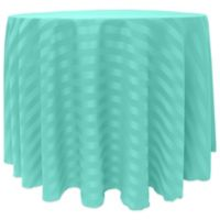 72-Inch Round Poly-Stripe Tablecloth in Caribbean Blue