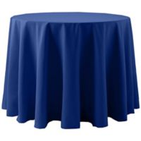 Spun Polyester 60-Inch Round Tablecloth in Royal Blue