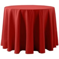 Spun Polyester 60-Inch Round Tablecloth in Red