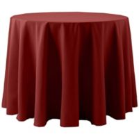 Spun Polyester 60-Inch Round Tablecloth in Rust Red