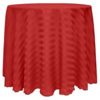 Satin-Stripe 60-Inch Round Tablecloth in Red