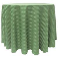 Satin-Stripe 60-Inch Round Tablecloth in Sage