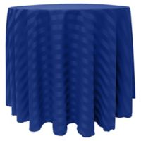 Satin-Stripe 60-Inch Round Tablecloth in Royal Blue