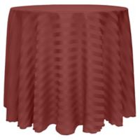 Satin-Stripe 60-Inch Round Tablecloth in Rust Red