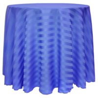Satin-Stripe 60-Inch Round Tablecloth in Periwinkle