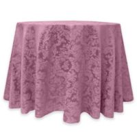 Miranda Damask 60-Inch Round Tablecloth in Rose